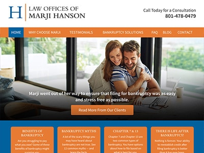 Law Firm Website design for Law Offices of Marji Hans…