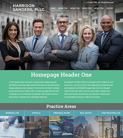 Law firm wbsite design concept Layout #116