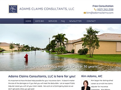 Law Firm Website design for Adams Claims Consultants,…