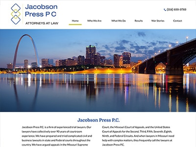 Law Firm Website design for Jacobson Press P.C.