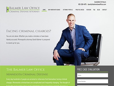 Website Design for Balmer Law Office, PLLC