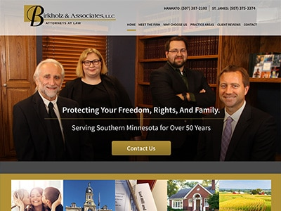 Law Firm Website design for Birkholz & Associates, LL…