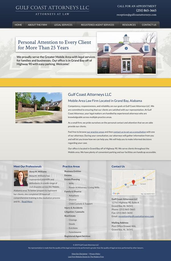 Law Firm Website Design for Gulf Coast Attorneys LLC