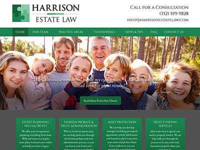 Law Firm Website design for Harrison Estate Law, P.A.
