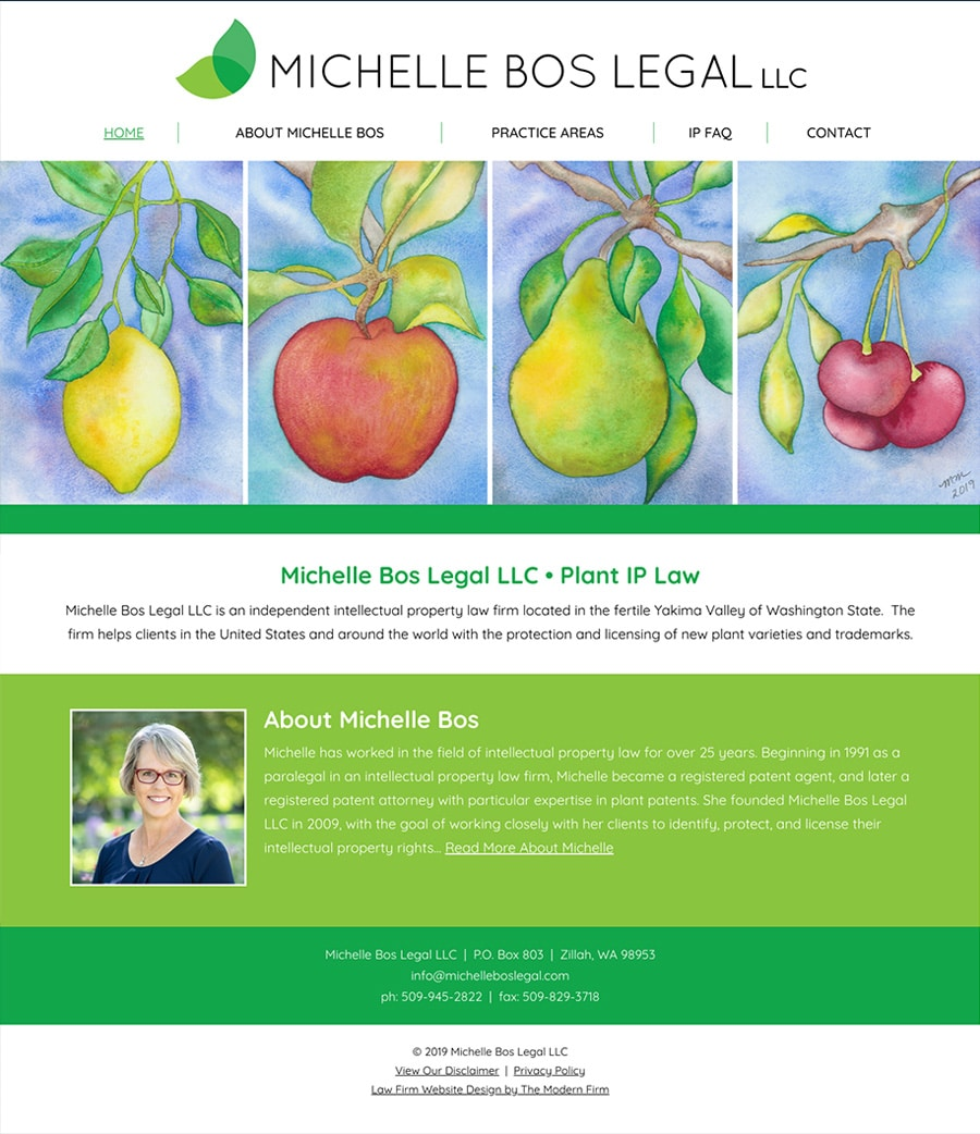 Law Firm Website Design for Michelle Bos Legal LLC