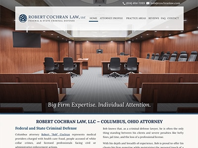 Law Firm Website design for Robert Cochran Law, LLC