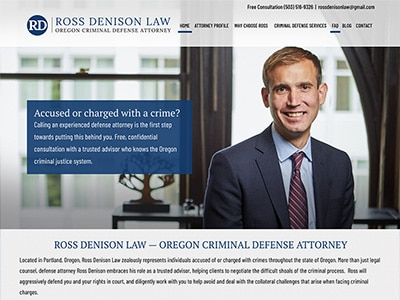 Law Firm Website design for Ross Denison Law