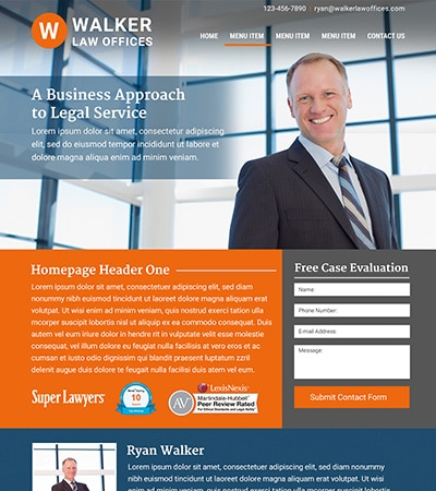 Law firm wbsite design concept Layout #117
