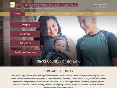 Law Firm Website design for Law Offices of Lauren D'A…