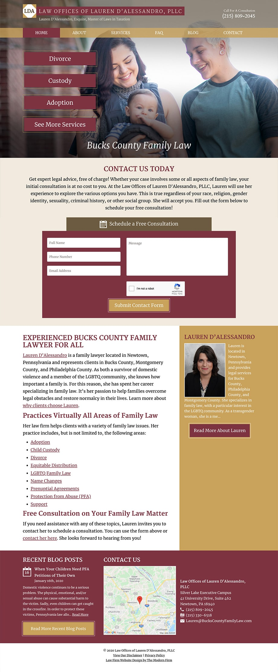 Law Firm Website Design for Law Offices of Lauren D'Alessandro, PLLC