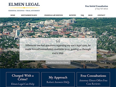 Law Firm Website design for Elmen Legal, PLLC