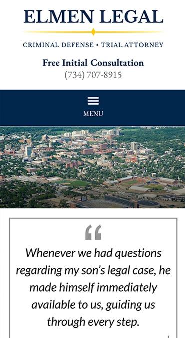 Responsive Mobile Attorney Website for Elmen Legal, PLLC