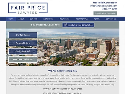 Website Design for Fair Price Lawyers