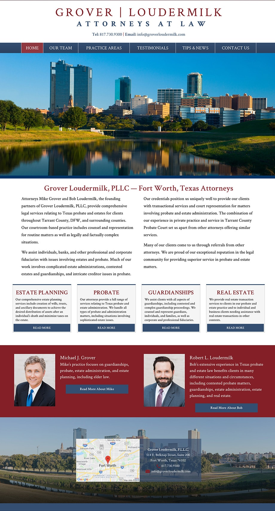 Law Firm Website Design for Grover Loudermilk, P.L.L.C.