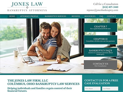 Website Design for The Jones Law Firm, LLC
