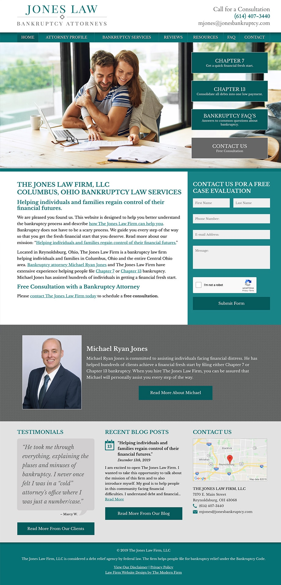 Law Firm Website Design for The Jones Law Firm, LLC