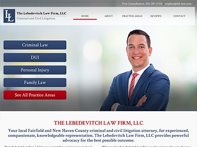 Law Firm Website design for The Lebedevitch Law Firm,…