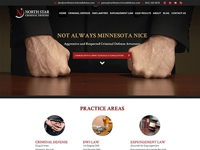 Law Firm Website design for North Star Criminal Defen…
