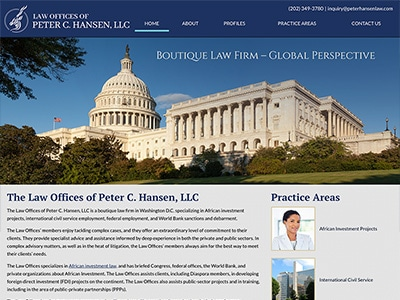 Law Firm Website design for Law Offices of Peter C. H…