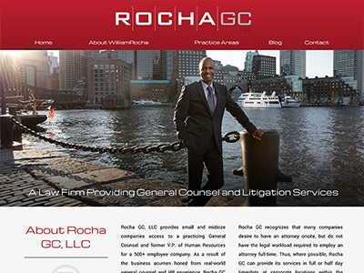 Website Design for Rocha GC, LLC
