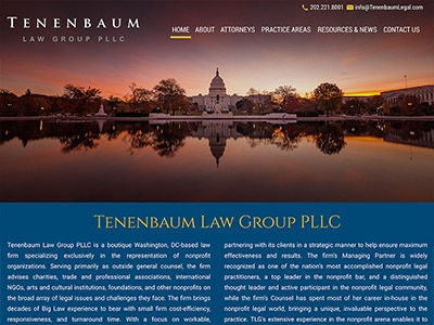 Website Design for Tenenbaum Law Group PLLC
