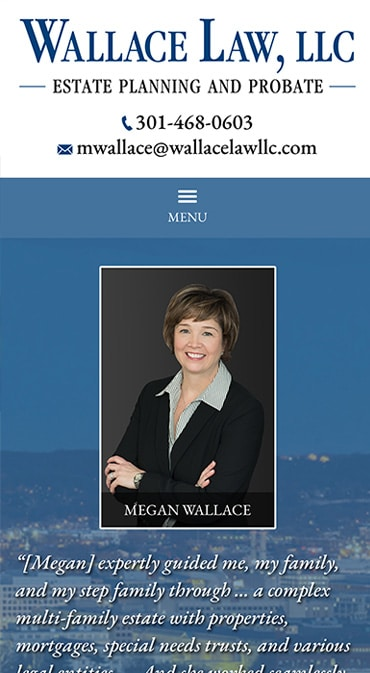 Responsive Mobile Attorney Website for Wallace Law, LLC