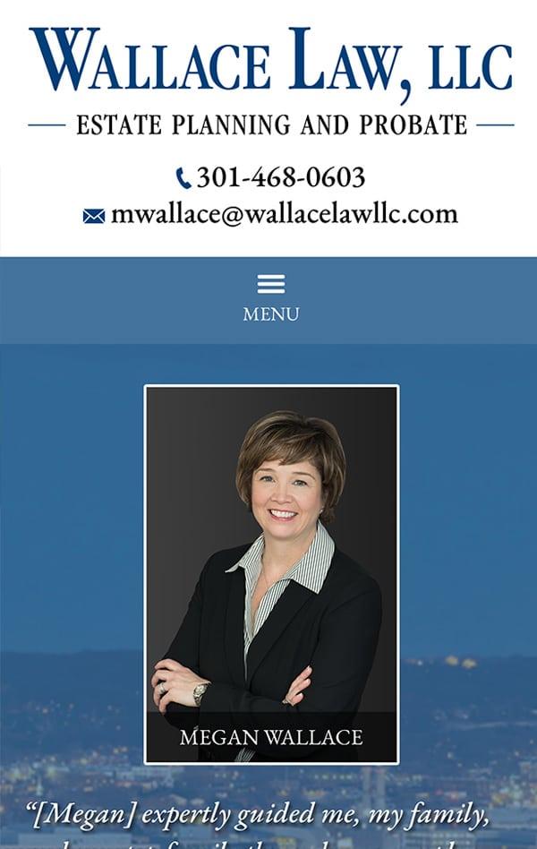 Mobile Friendly Law Firm Webiste for Wallace Law, LLC