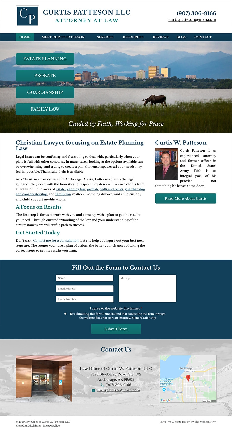 Law Firm Website Design for Law Office of Curtis W. Patteson, LLC