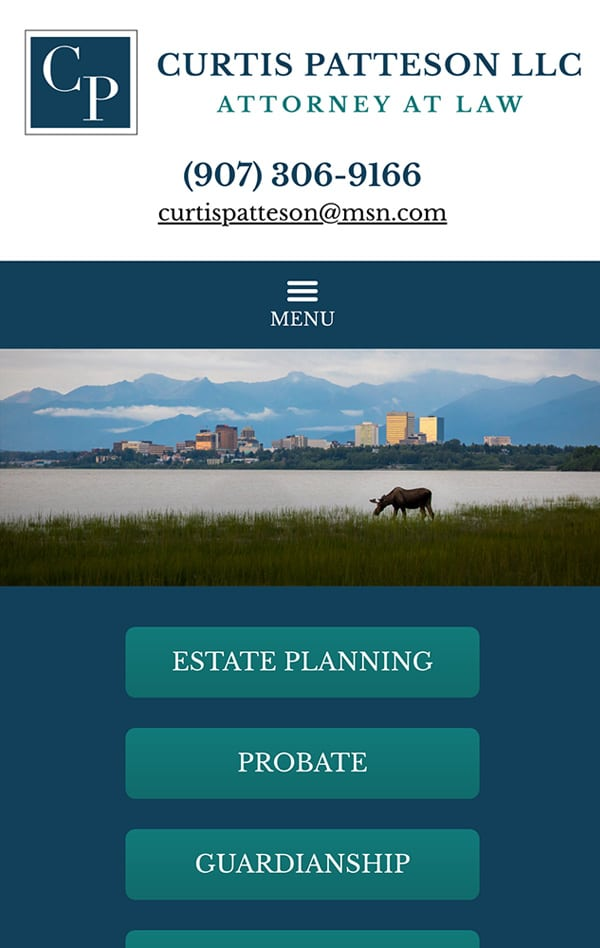 Mobile Friendly Law Firm Webiste for Law Office of Curtis W. Patteson, LLC