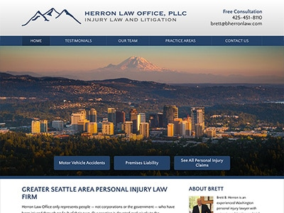 Law Firm Website design for Herron Law Office, PLLC