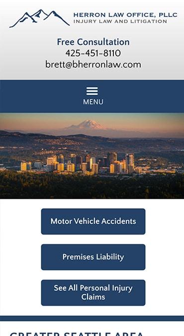 Responsive Mobile Attorney Website for Herron Law Office, PLLC