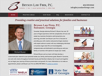 Law Firm Website design for Bryson Law Firm, P.C.