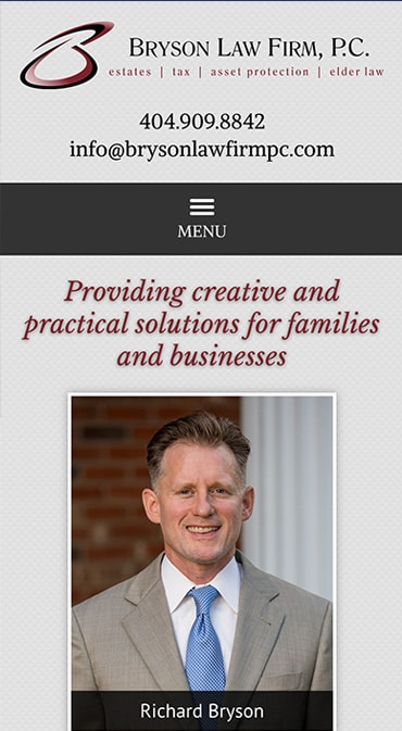 Mobile Friendly Law Firm Webiste for Bryson Law Firm, P.C.