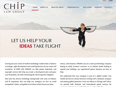 Website Design for CHIP LAW GROUP