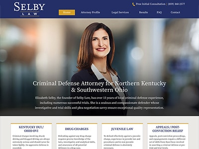 Law Firm Website design for The Law Office of Elizabe…