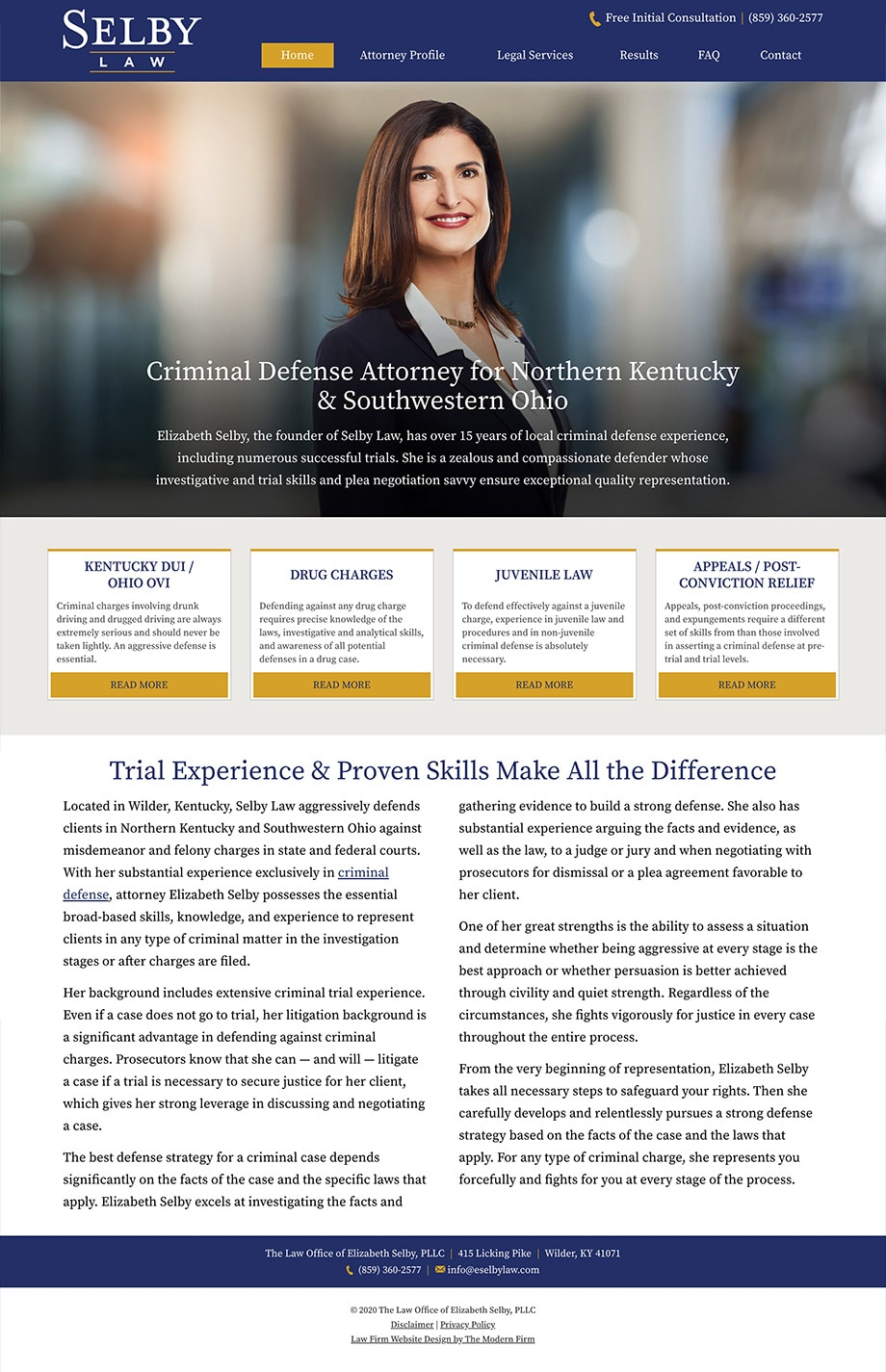Law Firm Website Design for The Law Office of Elizabeth Selby, PLLC