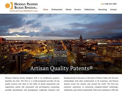 Law Firm Website design for Hickman Palermo Becker Bi…