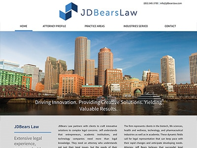 Website Design for JDBears Law, LLC