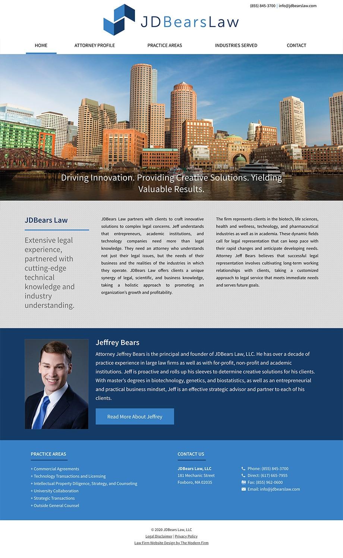 Law Firm Website Design for JDBears Law, LLC