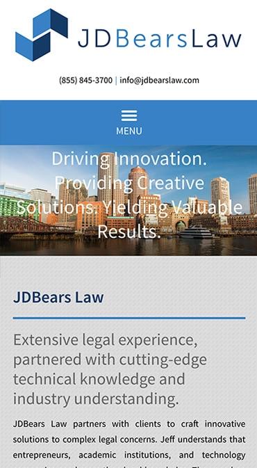 Responsive Mobile Attorney Website for JDBears Law, LLC