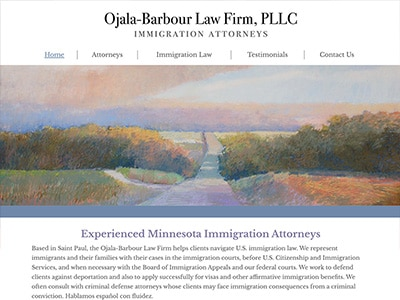 Law Firm Website design for Ojala-Barbour Law Firm PL…