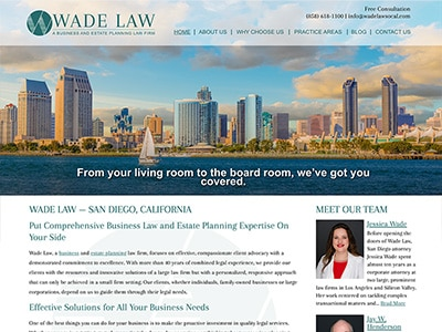 Website Design for Wade Law