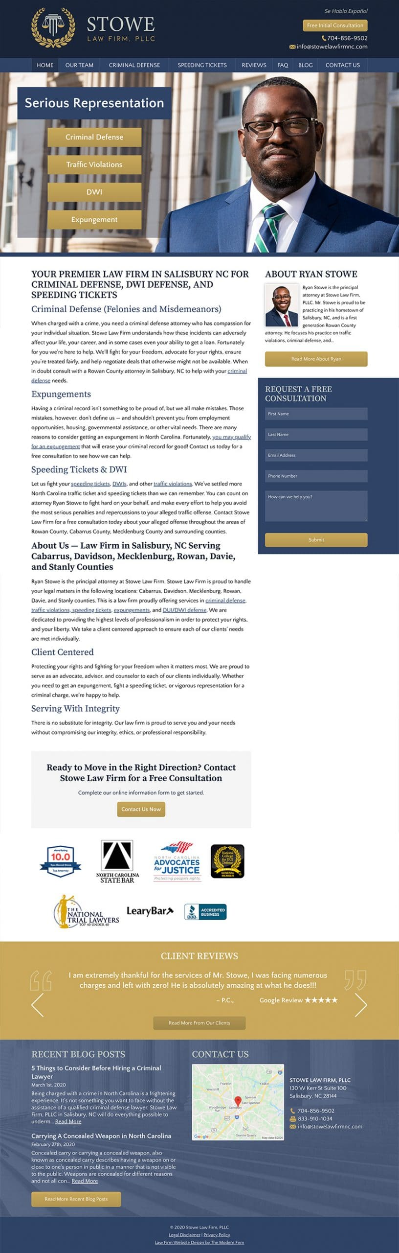 Law Firm Website Design for Stowe Law Firm, PLLC