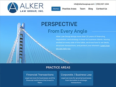 Website Design for Alker Law Group, Inc.