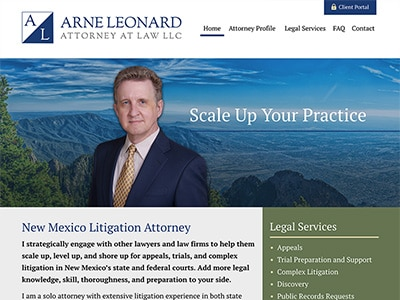 Law Firm Website design for Arne R. Leonard