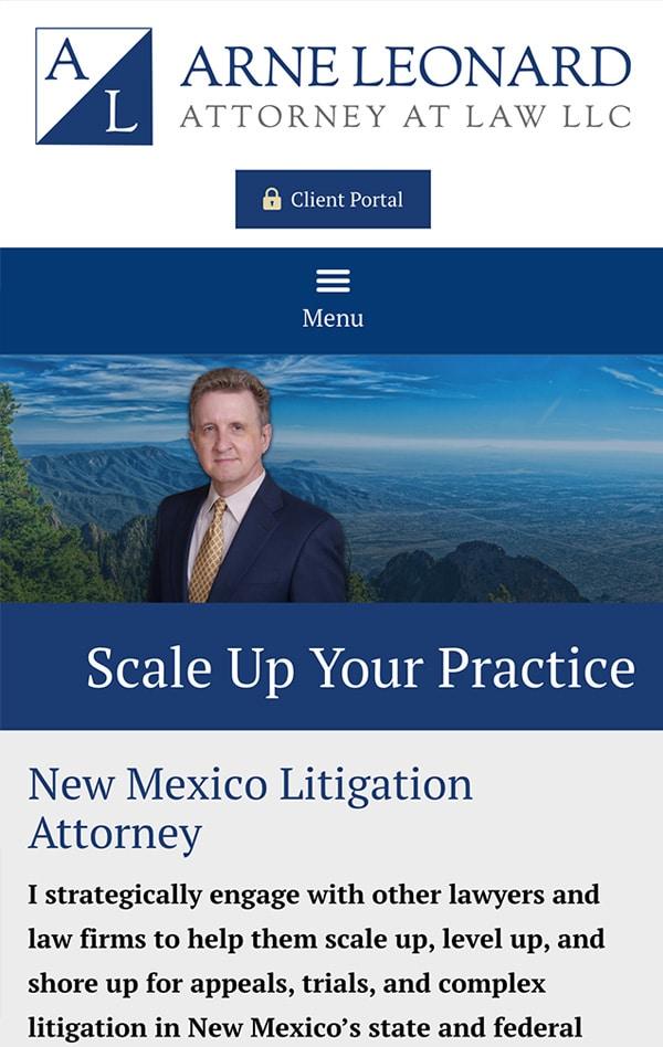Mobile Friendly Law Firm Webiste for Arne R. Leonard