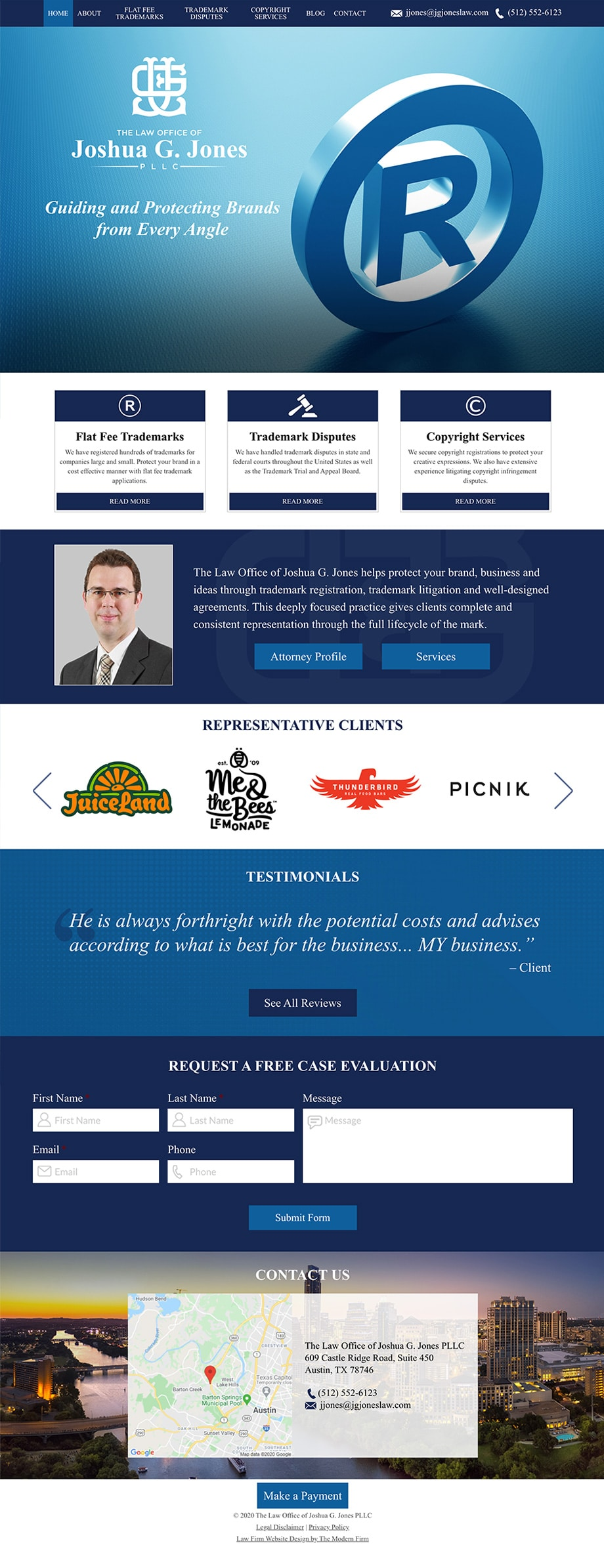 Law Firm Website for The Law Office of Joshua G. Jones PLLC