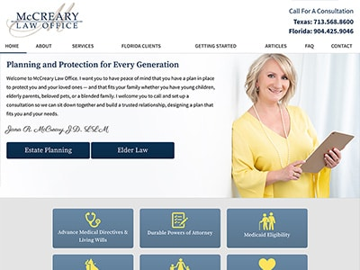 Law Firm Website design for McCreary Law Office, PLLC