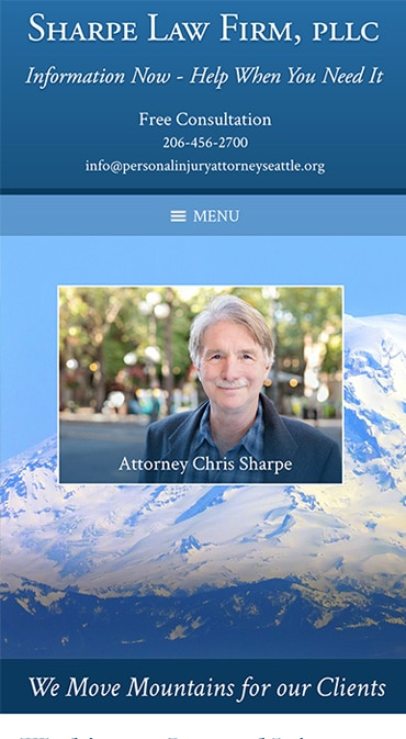 Responsive Mobile Attorney Website for Sharpe Law Firm, PLLC