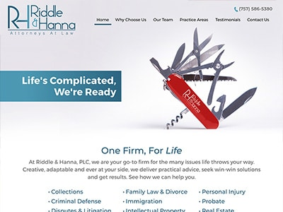 Website Design for Riddle & Hanna, PLC